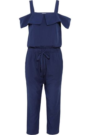 CLU Cutout silk and cotton-blend jumpsuit