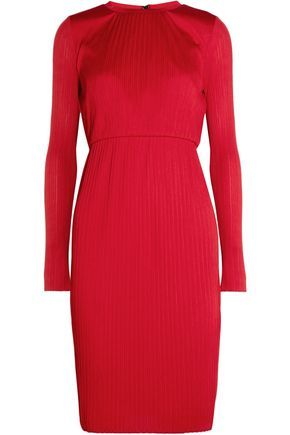 MAX MARA Plissé-jersey dress