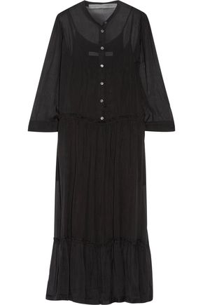 RAQUEL ALLEGRA Silk-chiffon midi dress
