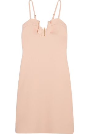 CARVEN Ruffle-trimmed crepe dress