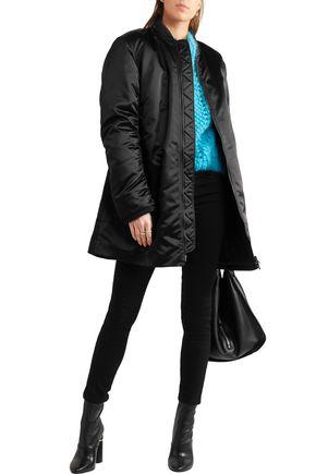 ACNE STUDIOS Lexi ruched satin bomber jacket