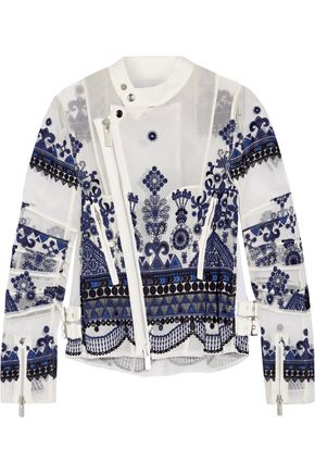 SACAI Embroidered organza jacket