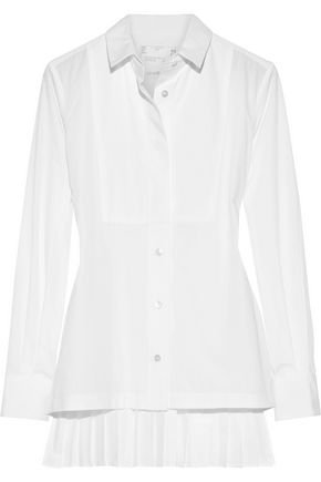 SACAI Pleated poplin shirt