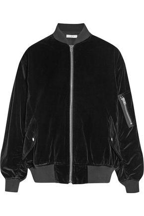 IRO Oversized cotton-velvet bomber jacket