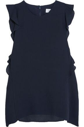 CARVEN Ruffled crepe top