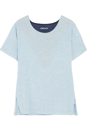 DKNY Blue Note mesh-paneled stretch-modal T-shirt