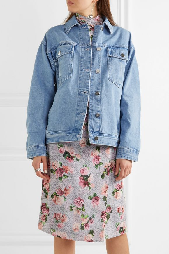 Rushmore oversized beaded denim jacket | TOPSHOP UNIQUE | Sale up to 70% off  | THE OUTNET