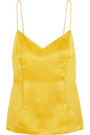 TOPSHOP UNIQUE Floral Fatale silk-jacquard camisole