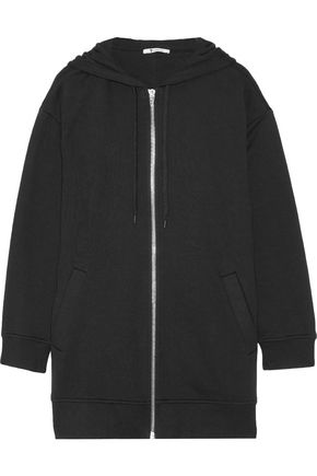 T by ALEXANDER WANG Mélange cotton-blend jersey hooded jacket