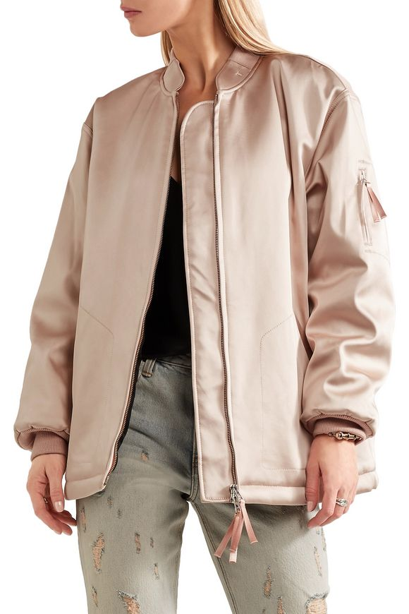 Oversized satin bomber jacket | T by ALEXANDER WANG | Sale up to 70% off |  THE OUTNET