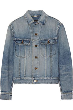 SAINT LAURENT Studded denim jacket
