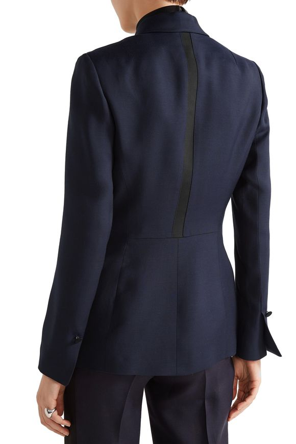 Adelaide satin-trimmed crepe blazer | PALLAS | Sale up to 70% off | THE  OUTNET