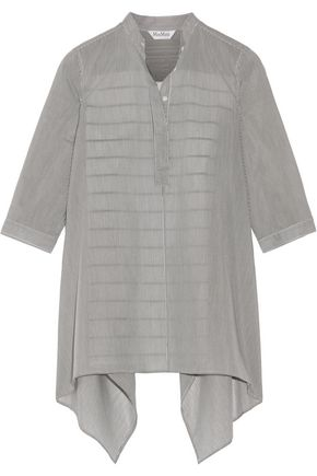 MAX MARA Aderire oversized striped cotton and silk-blend shirt