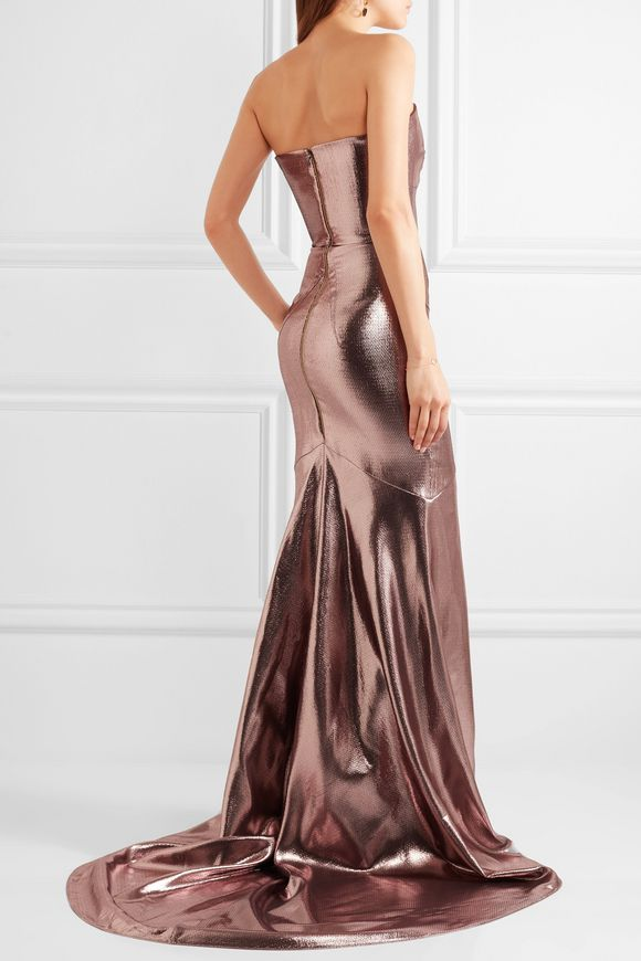 Brenner strapless lamé gown | ROLAND MOURET | Sale up to 70% off | THE  OUTNET