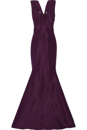 ZAC POSEN Silk-faille gown