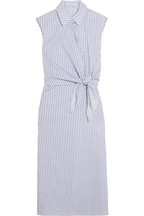 J.W.ANDERSON Knotted striped cotton shirt dress