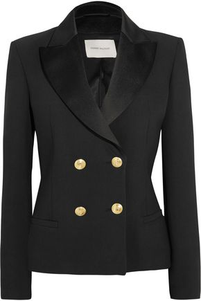 PIERRE BALMAIN Double-breasted crepe blazer