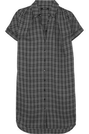 MADEWELL Plaid flannel shirt dress