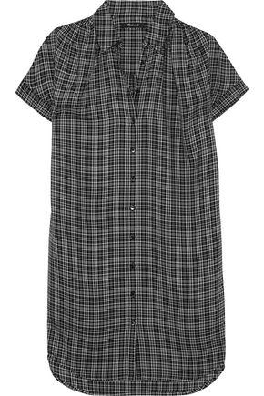 MADEWELL Plaid flannel shirt dress