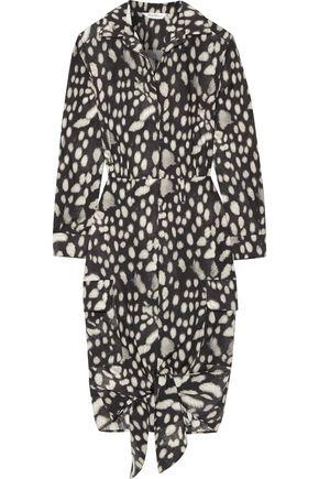 MAX MARA Leopard-print cotton-poplin dress