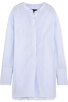 ISABEL MARANT Louis striped cotton-poplin tunic