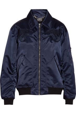 MARKUS LUPFER Amelia embroidered shell bomber jacket