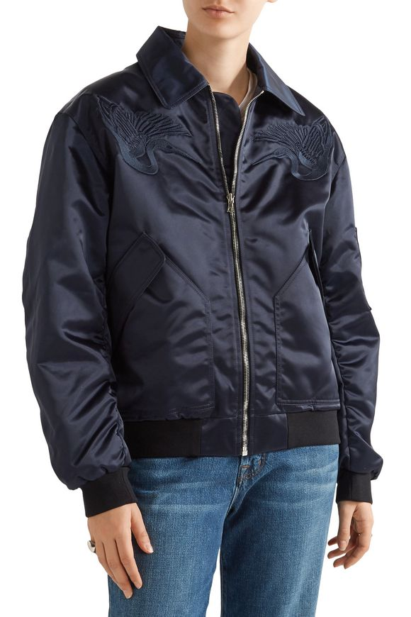 Embroidered shell bomber jacket   MARKUS LUPFER   Sale up to 70% off   THE  OUTNET