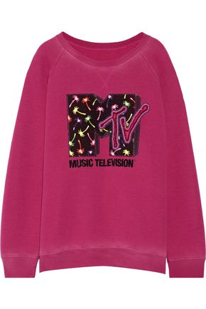 MARC JACOBS Appliquéd jersey sweatshirt