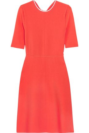 VICTORIA, VICTORIA BECKHAM Open-back ribbed stretch-jersey dress