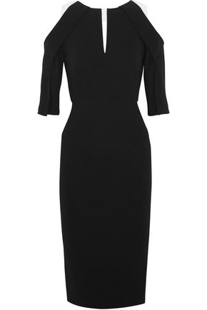 ROLAND MOURET Keeling cutout crepe dress