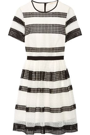 MICHAEL MICHAEL KORS Paneled crocheted lace mini dress