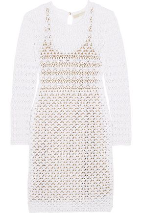 MICHAEL MICHAEL KORS Crocheted cotton mini dress