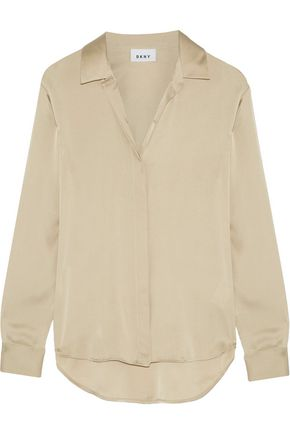 DKNY Stretch-silk crepe de chine blouse