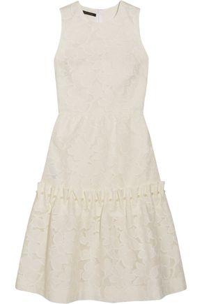 MOTHER OF PEARL Ellie faux pearl-embellished devoré cotton-blend dress