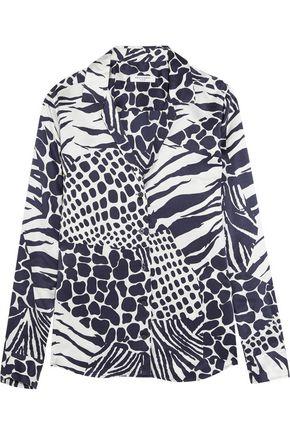 EQUIPMENT Adalyn animal-print washed-silk shirt