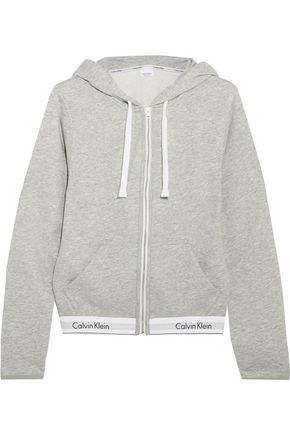 CALVIN KLEIN UNDERWEAR Modern cotton-blend jersey hooded top