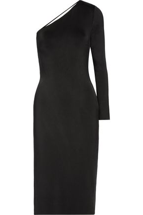 CUSHNIE ET OCHS Claudia one-shoulder stretch-satin jersey midi dress