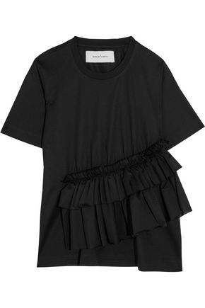 MARQUES ' ALMEIDA Ruffled stretch-jersey T-shirt