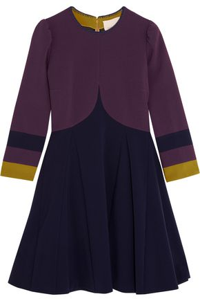 ROKSANDA Paneled stretch-cady mini dress