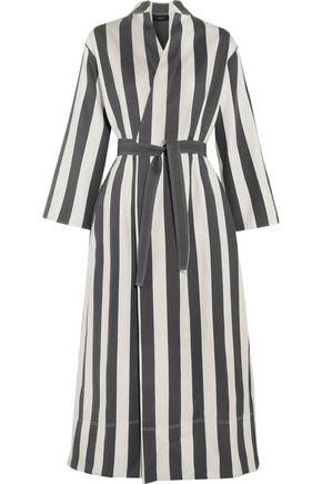 JOSEPH Laurence striped cotton and silk-blend wrap dress