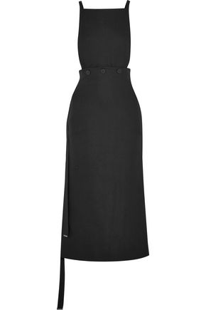 JOSEPH Idaho covertible crepe midi dress