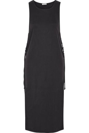 SPLENDID Layered ribbed stretch modal-blend midi dress