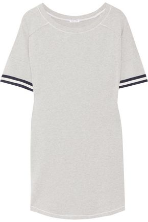 SPLENDID Varsity Active striped stretch cotton and modal-blend jersey mini dress