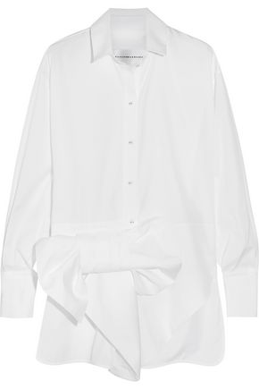VICTORIA, VICTORIA BECKHAM Bow-embellished cotton shirt