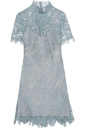 SEE BY CHLOÉ Open-back guipure lace mini dress
