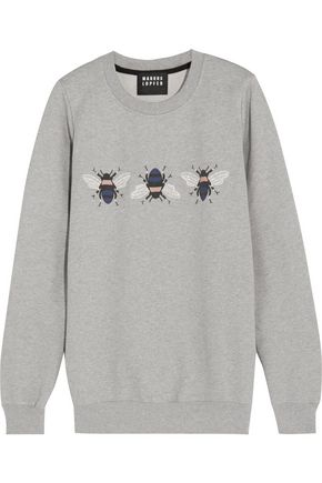MARKUS LUPFER Embroidered printed cotton sweatshirt