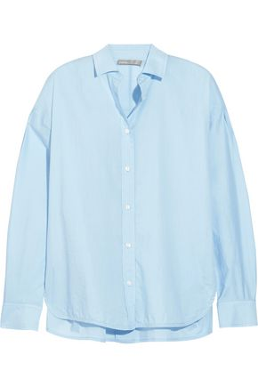 VINCE. Split-side cotton shirt
