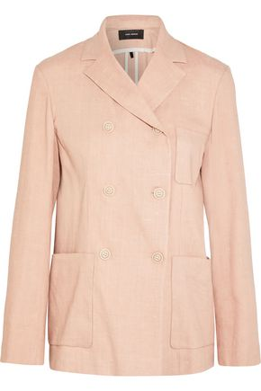 ISABEL MARANT Nessa double-breasted linen-blend blazer