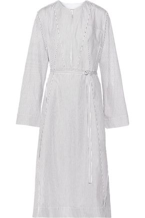 LEMAIRE Striped cotton-poplin shirt