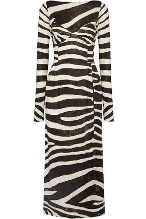 MARC JACOBS Zebra-print stretch-jersey dress